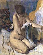 Edgar Degas After the Bath, Kneeling Woman Drying Her Left Elbow