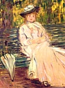 Claude Monet Woman Seated on a Bench