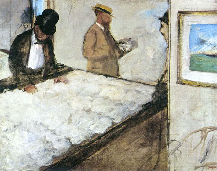 Edgar Degas Cotton Merchants stretched canvas art print
