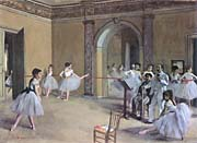 Edgar Degas Dance Foyer at the Opera in the rue Le Peletier