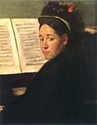 Edgar Degas Marie Dihau at the Piano
