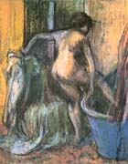 Edgar Degas Nude Stepping Out of the Bath