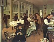 Edgar Degas Portraits In An  Office New Orleans canvas prints