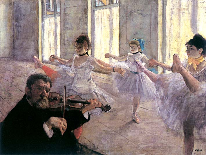 Edgar Degas Rehearsal stretched canvas art print