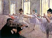 Edgar Degas Rehearsal canvas prints