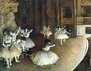 Edgar Degas Rehearsal of a Ballet on Stage