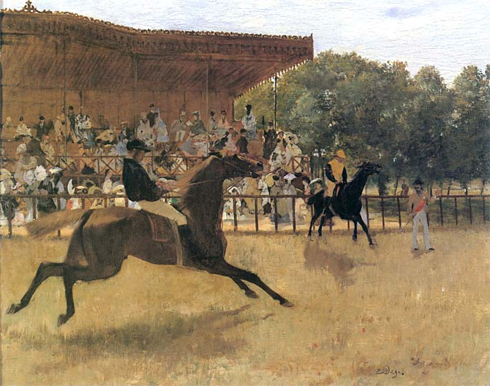 Edgar Degas The False Start stretched canvas art print