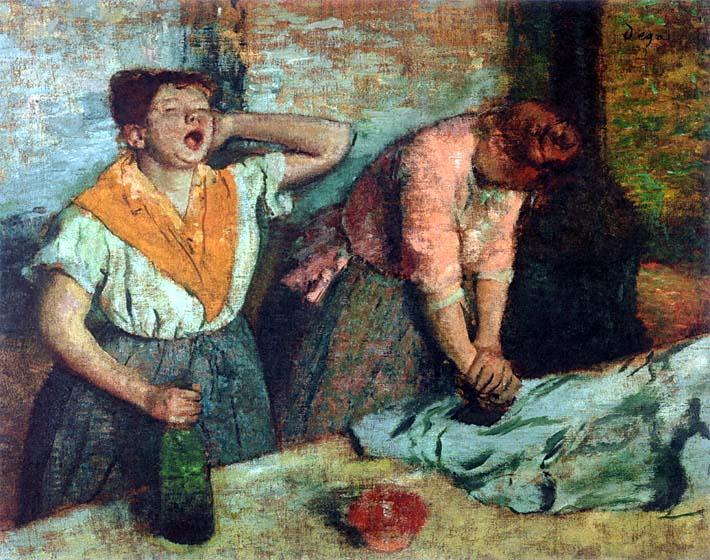 Edgar Degas The Laundresses stretched canvas art print