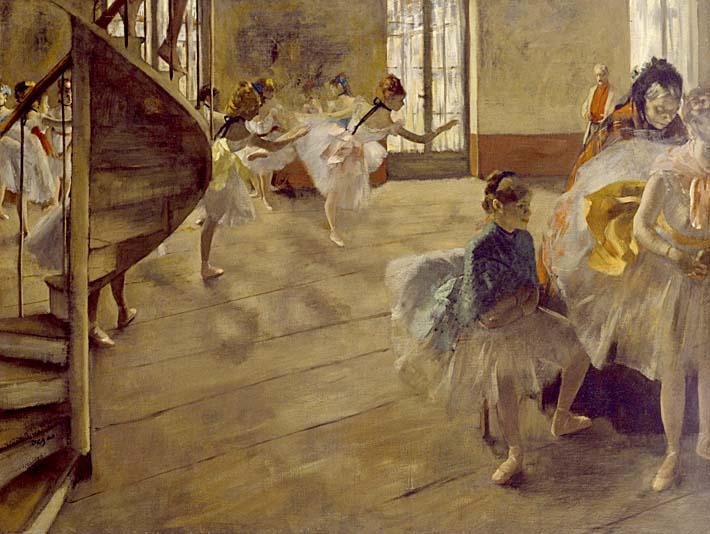 Edgar Degas The Rehearsal stretched canvas art print