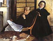 Edgar Degas Uncle And Niece canvas prints