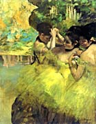 Edgar Degas Yellow Dancers in the Wings
