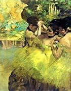 Edgar Degas Yellow Dancers in the Wings