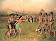 Edgar Degas Young Spartans Exercising canvas prints
