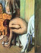 Edgar Degas After The Bath Woman Drying Her Feet canvas prints