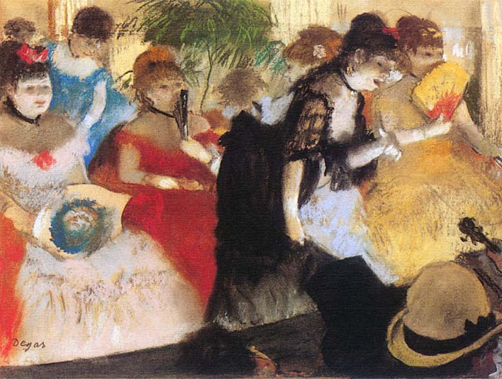 Edgar Degas Cafe Concert stretched canvas art print