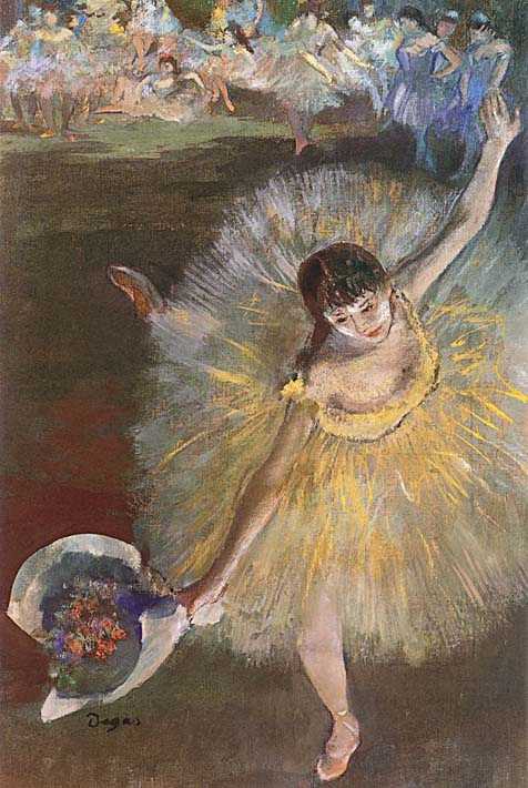 Edgar Degas Fin d'arabesque stretched canvas art print