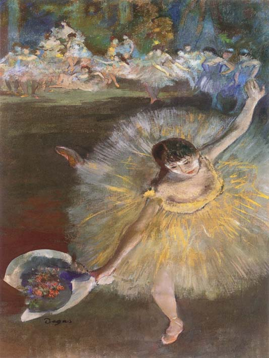 Edgar Degas Fin d'arabesque (detail) stretched canvas art print