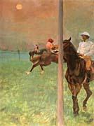 Edgar Degas Jockeys Before the Start