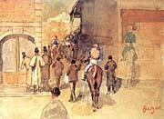 Edgar Degas Leaving the Paddock