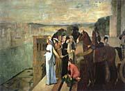 Edgar Degas Semiramis Building Babylon