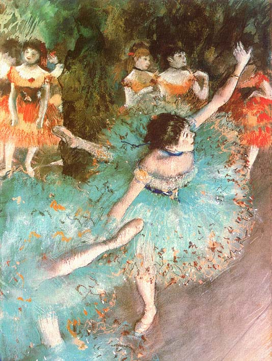 Edgar Degas The Green Dancer stretched canvas art print