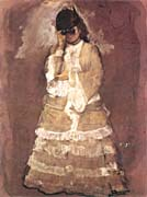 Edgar Degas Woman with Opera Glasses