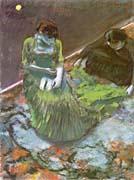 Edgar Degas Before the Curtain Call