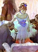 Edgar Degas Before The Entrance On Stage canvas prints