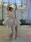 Edgar Degas Dancer Posing for a Photographer - Dancer before a Window