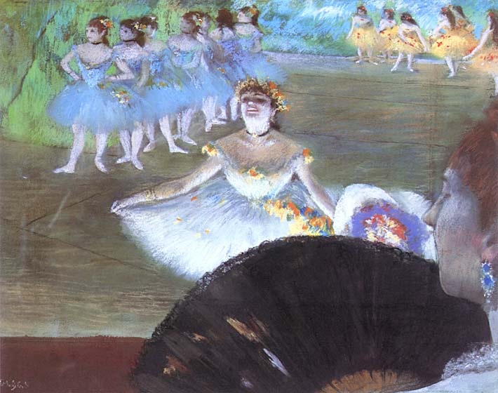 Edgar Degas Dancer with a Bouquet stretched canvas art print
