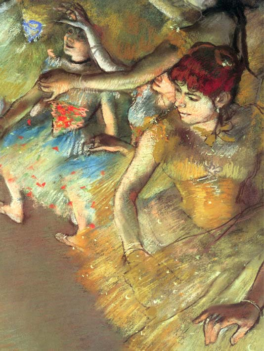 Edgar Degas Dancers stretched canvas art print
