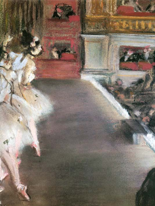 Edgar Degas Dancers at the Old Opera House stretched canvas art print