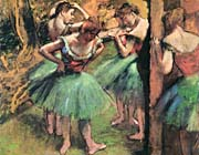 Edgar Degas Dancers, Pink and Green