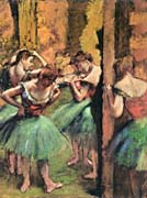 Edgar Degas Dancers in Pink and Green