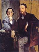 Edgar Degas Edmond and Therese Morbilli