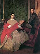 Edgar Degas Edmondo and Therese Morbilli
