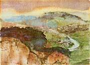 Edgar Degas Hilly Landscape