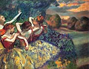 Edgar Degas Four Dancers