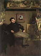 Edgar Degas James Tissot in an Artist's Studio
