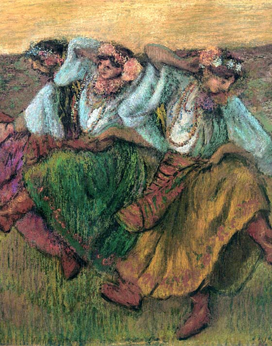 Edgar Degas Les Danseuses Russes stretched canvas art print