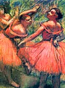 Edgar Degas Red Skirts