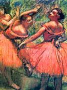 Edgar Degas Red Skirts canvas prints