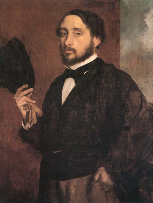 Edgar Degas Edgar Degas Self-Portrait stretched canvas art print