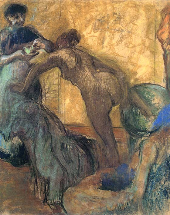 Edgar Degas The Cup of Chocolate stretched canvas art print