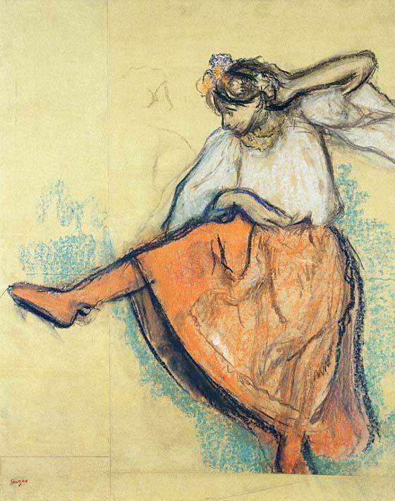 Edgar Degas The Russian Dancer stretched canvas art print