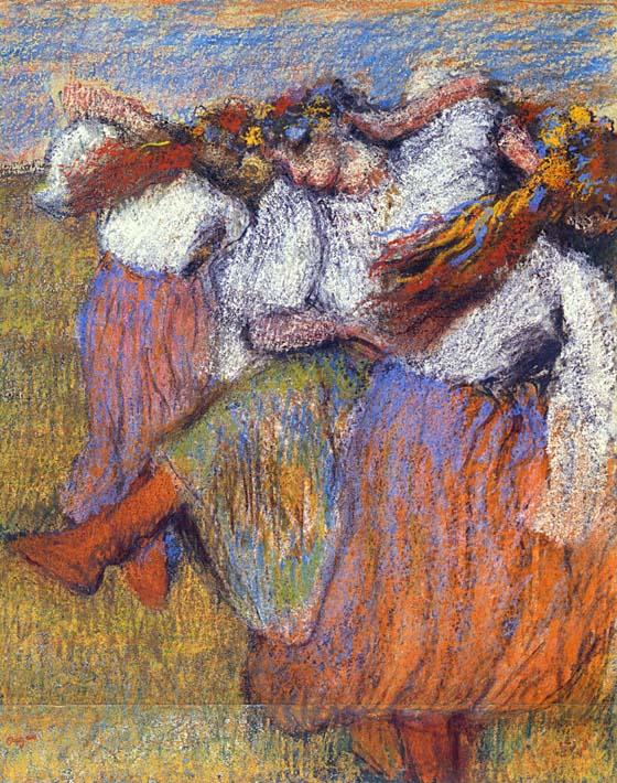 Edgar Degas The Russian Dancers stretched canvas art print