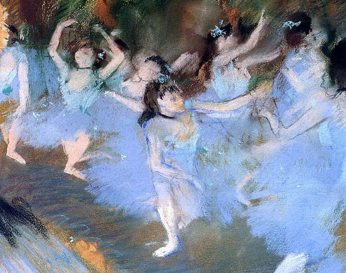 Edgar Degas The Star (dancers detail) stretched canvas art print