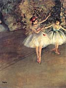 Edgar Degas Two Dancers On The Stage canvas prints