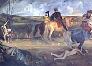 Edgar Degas Scene of War in the Middle Ages