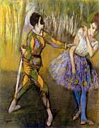 Edgar Degas Harlequin And Colombina canvas prints